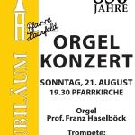 Plakat Orgelkonzert 2011
